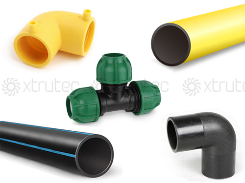 HDPE pipe and fitting production plant